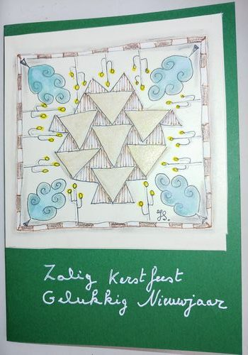 Best wishes for 2021 Handdrawn mandala, metalic paint (set Derwent) nieuwjaar2021klein