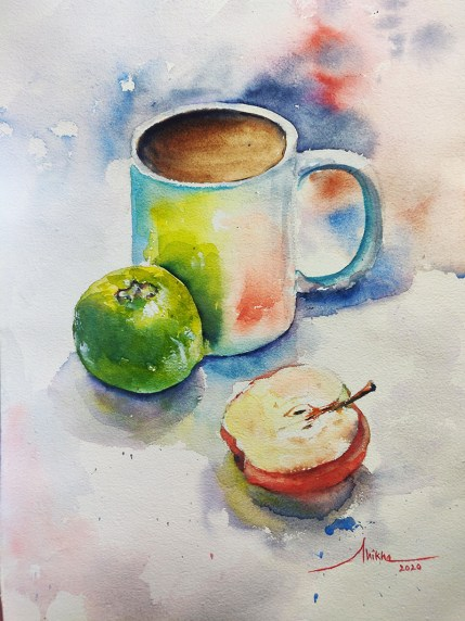 tea time_ watercolour by Shikha Garg