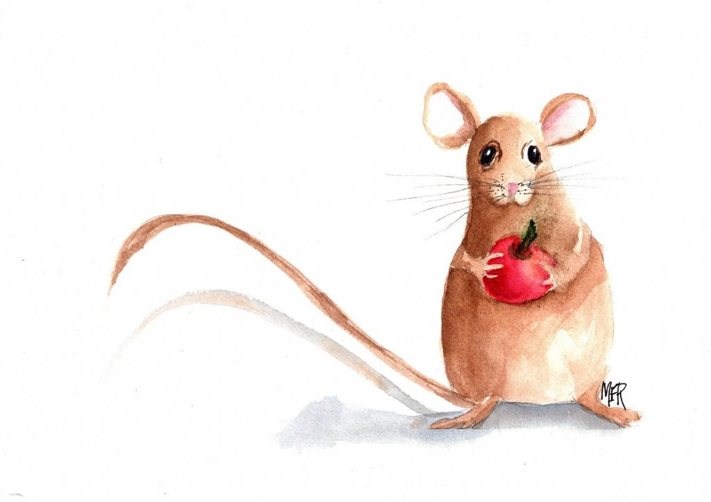 2/28/21 Mouse. Thanks, Gary, for the fun prompts this month! 2.28.21 Mouse img001