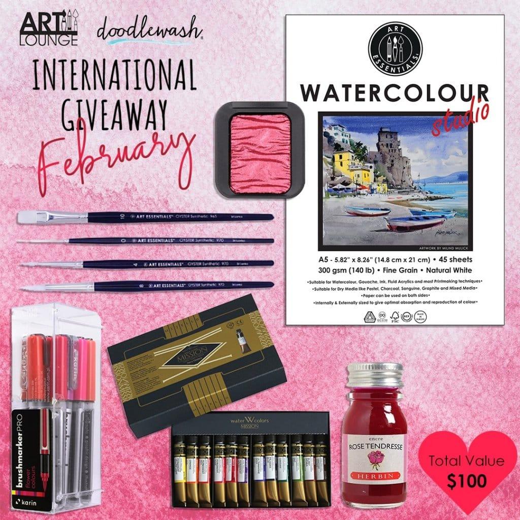 ArtLounge Doodlewash February 2021 Giveaway