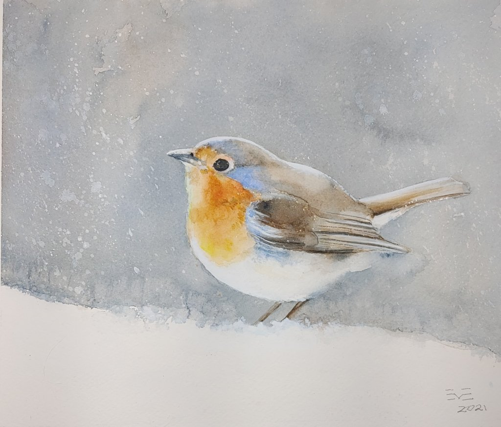 This little watercolour painting was just sold through Haldimand Art Works Online Art Auction, all p