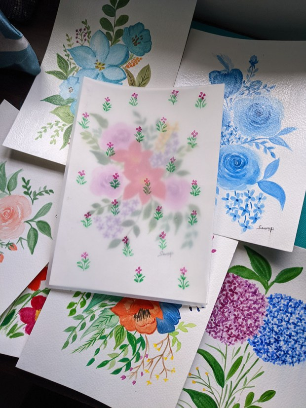 Floral Watercolor Paintings by Saumya Agrawal