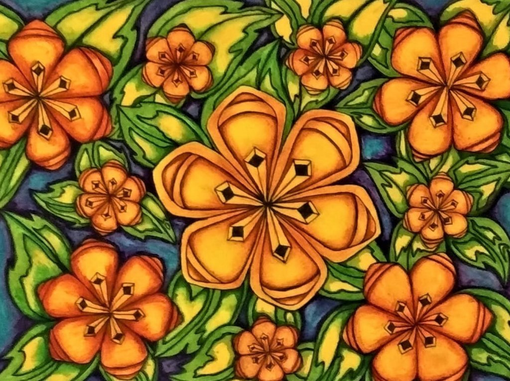 This is another one of my creations in color ink and I hope the same for it to be on fabrics or item