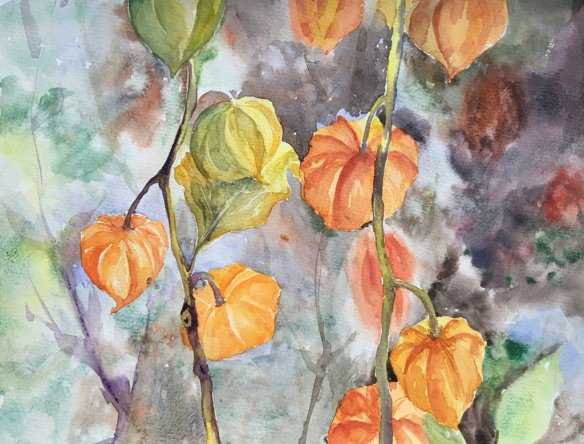 vine watercolour painting by Kusum Shabong