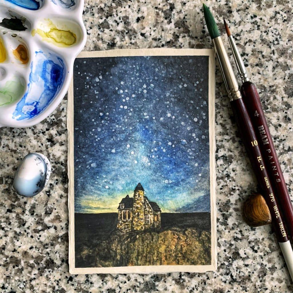 "Doodlewash x Design: Day 25 -""Microscopic"", small castle on Bradda head, Isle of Man, U.K. This"