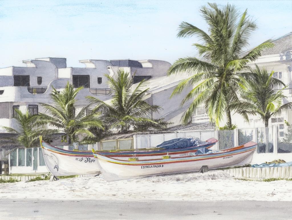 Canoes 36,2×27,3 util