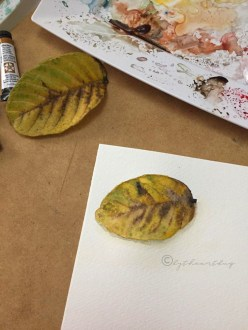 First Leaf I painted, That changed it all