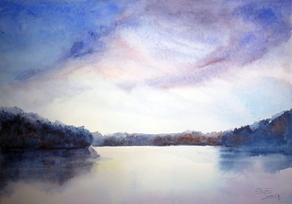 Grand River Watercolour Landscape Painting