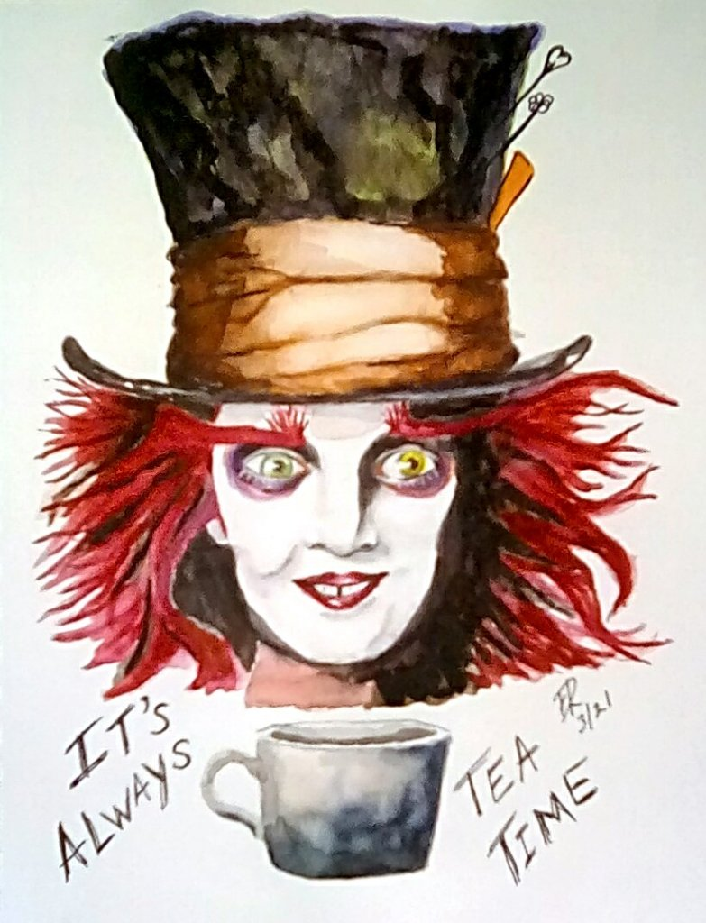 """Today's challenge """"Tea"""" It's always tea time! According to the Mad Hatter. I"""