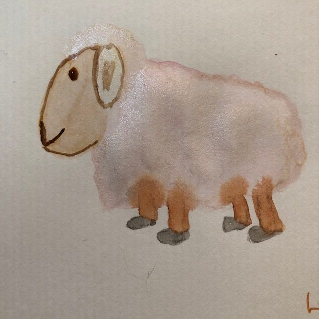 March continues..potatoes,lamb and nest #marchdoodlewash2021 IMG_6521IMG_6522IMG_6523