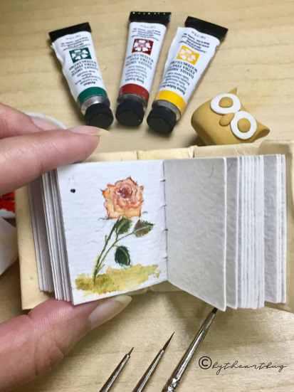Sketchbook Rose Watercolor by The Art Bug