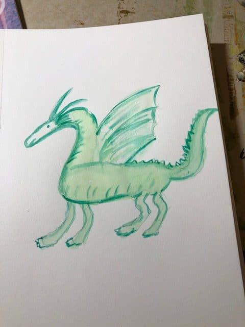 #doodlewashapril2021 rooster, dragon and orange tree.:) IMG_6761IMG_6762IMG_6763