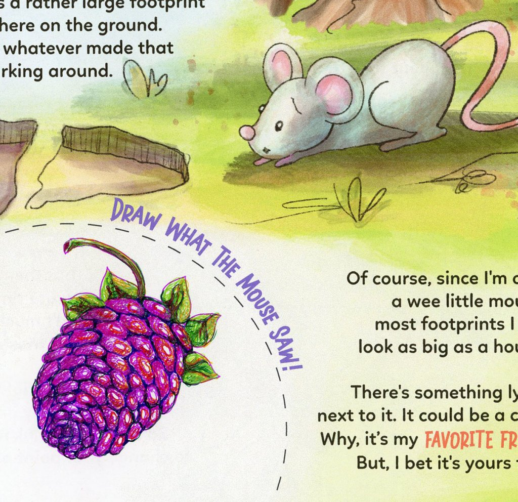 I got my copy of Charlie's 'One Little Mouse', a Draw Upon a Time interactive storybook. I