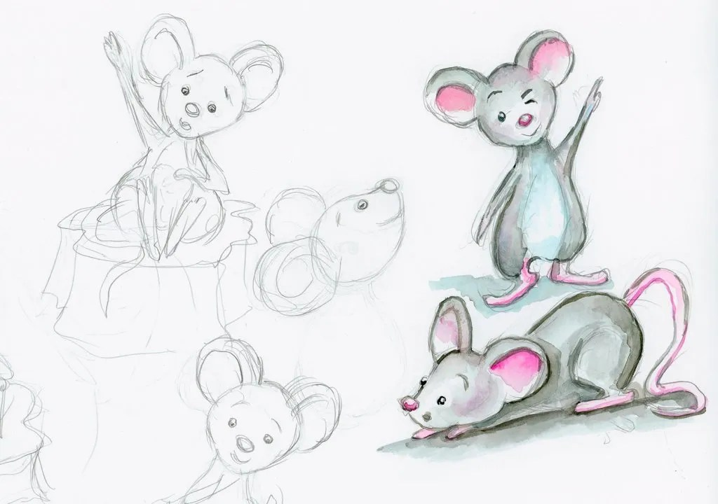 One Little Mouse Draw Upon A Time Early Drawings