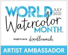 World Watercolor Month Artist Ambassador Badge 2021