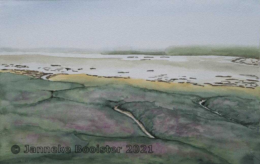 The Drowned Land of Zuid-Beveland (Netherlands) watercolour on Arches paper This is a beautiful but