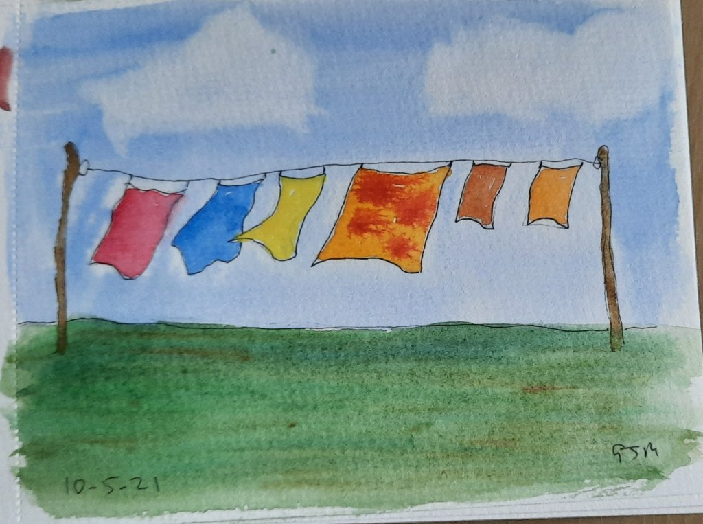 #doodlewashmay2021 Day 11 Washing. #worldwatercolorgroup 20210510_193611