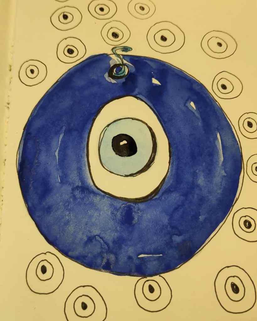 The Turkish third #eye #day19 #doodlewashmay2021 #worldwatercolorgroup IMG_20210519_204510_728