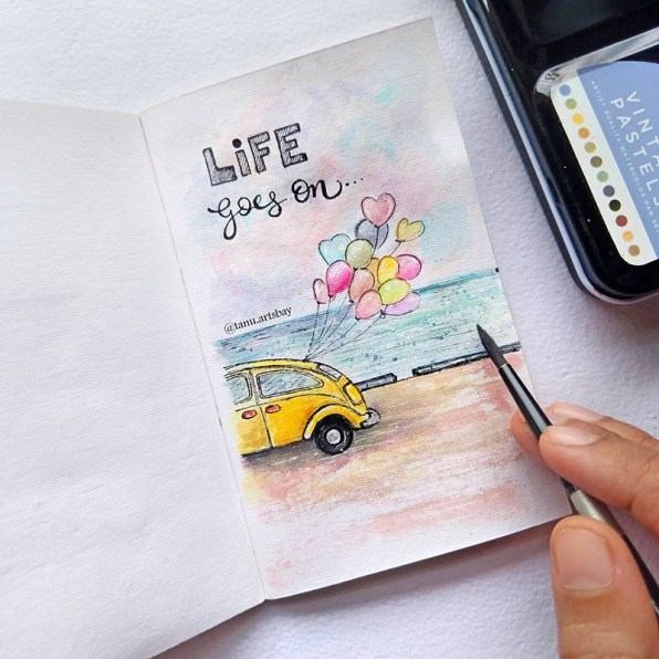 Life Goes On Watercolor Painting
