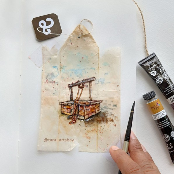 Well watercolor Painting