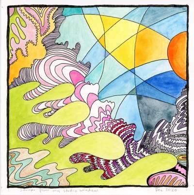 sounds through my open window 2021 by Rebecca Fish Ewan