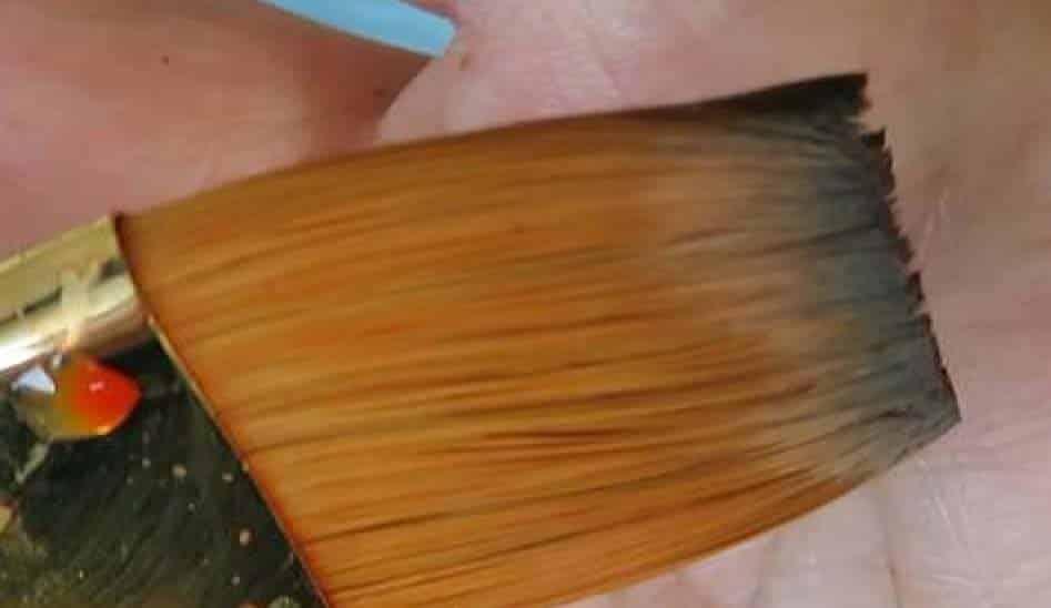 Callia Brush close-up of flat brush watercolor