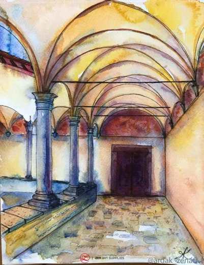 Il Convento del Carmine Watercolor Painting