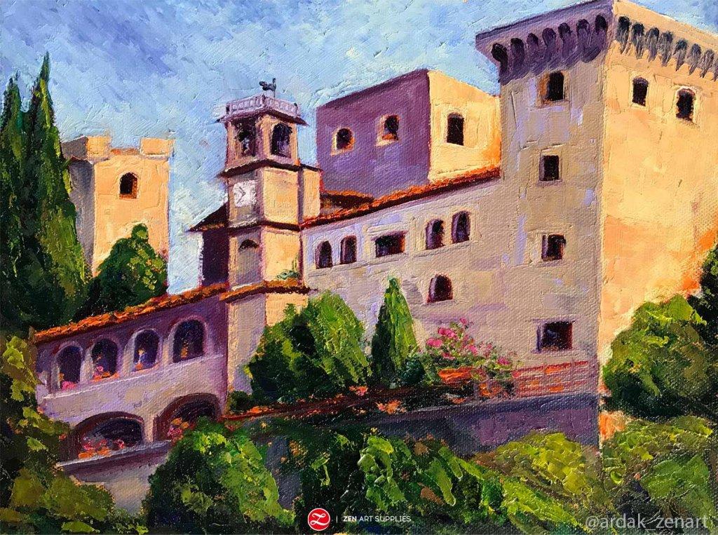 Castelo in Italy oil painting by Ardak Kassenova