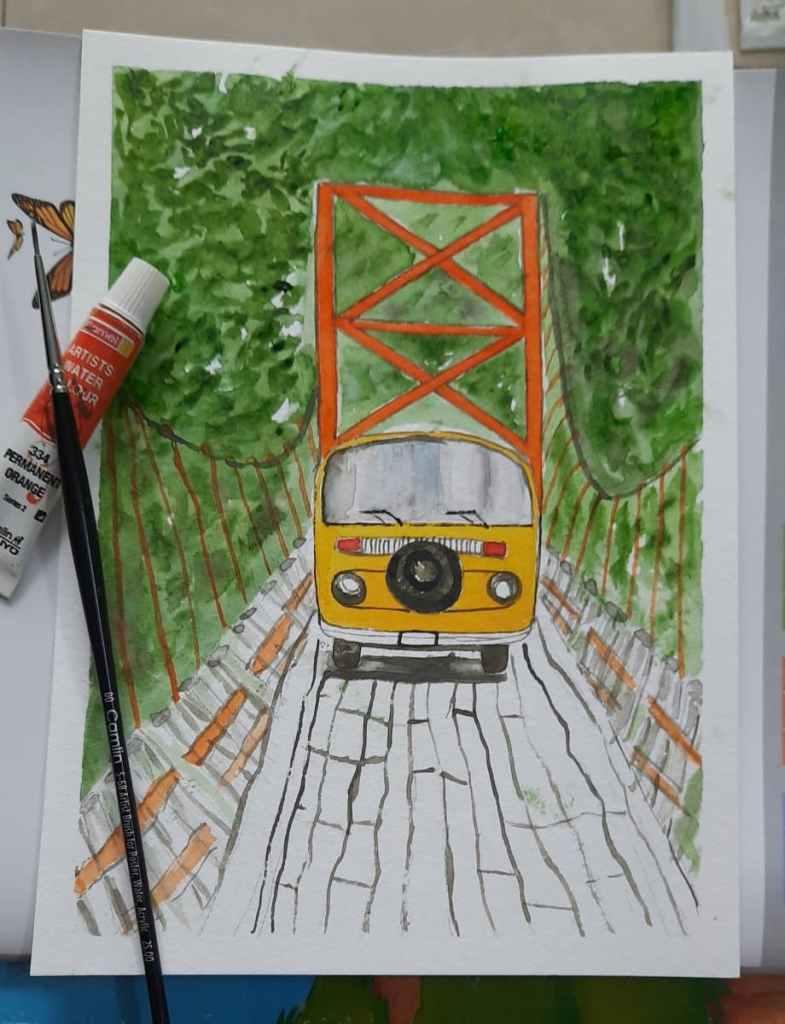 #DoodlewashJune2021 #WorldWatercolourGroup #bridge 20200821_165716