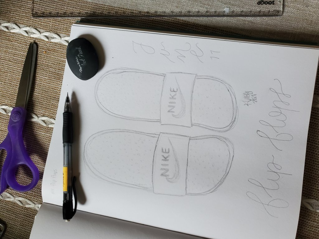 Day11- flip flops… Wasn't too inspired by today's prompt. The only thing that came