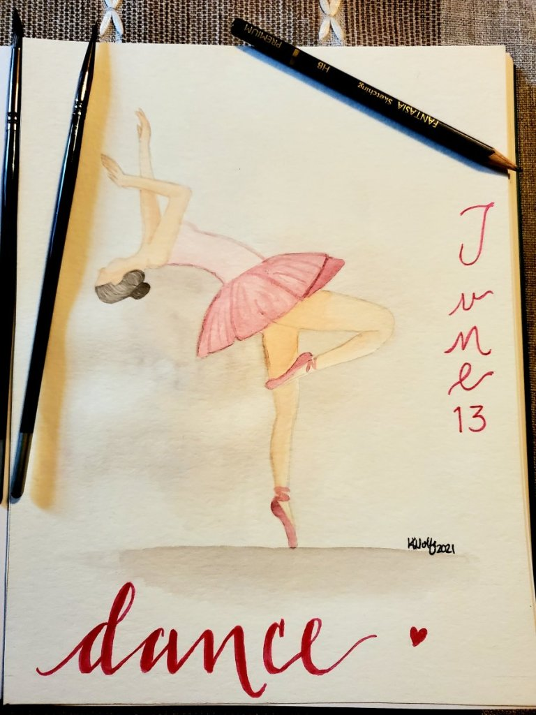 Day 13- dance .. I really, really hate drawing people. Totally not good at it. So shes not real deta