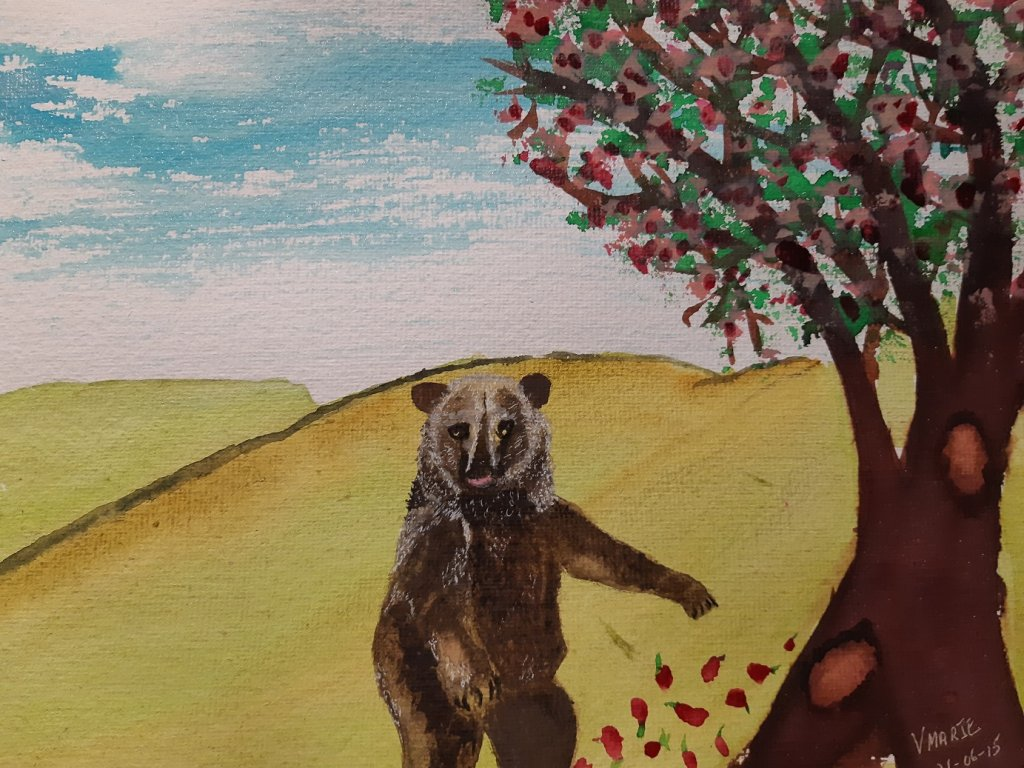 """These are the 2nd and 3rd in a 3 part project, """"The Parable of a Grizzly Bear"""" for Laura"""