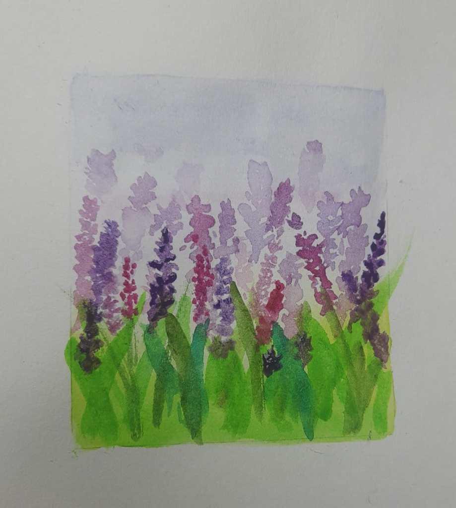 #WorldWatercolourGroup #Lavender #DoodlewashJune2021 20210627_120715