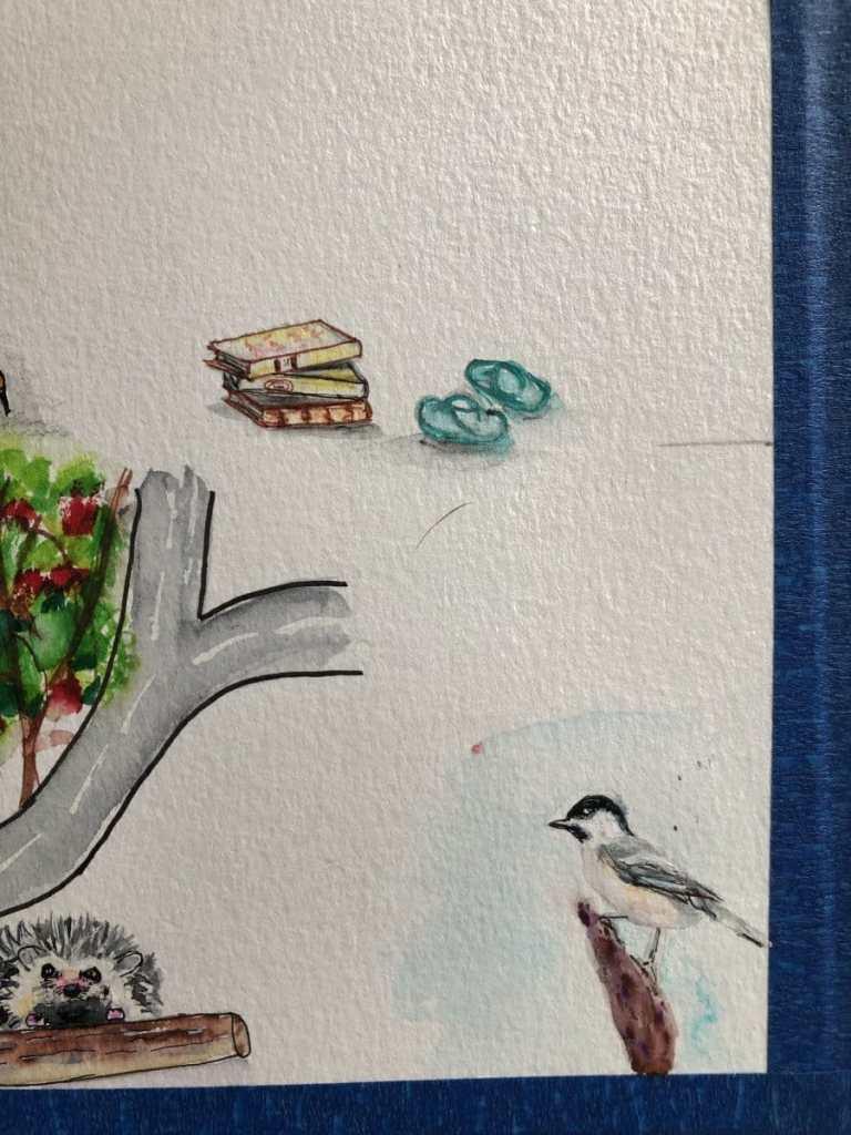 #doodlewashJune2021 Flip flops and books 5F27F80D-1C27-4F8F-9916-45F858361CB0