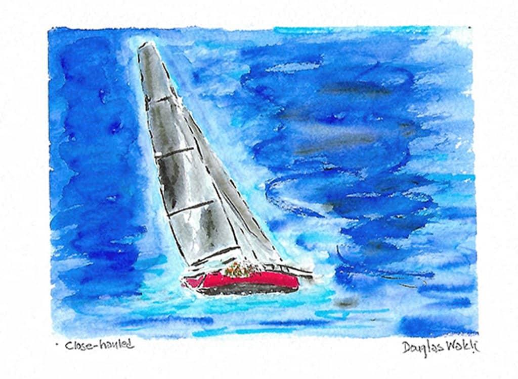 I'd rather be sailing! Close-hauled