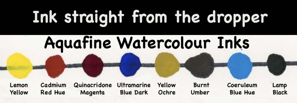 Aquafine Watercolour Ink Straight From The Dropper Examples