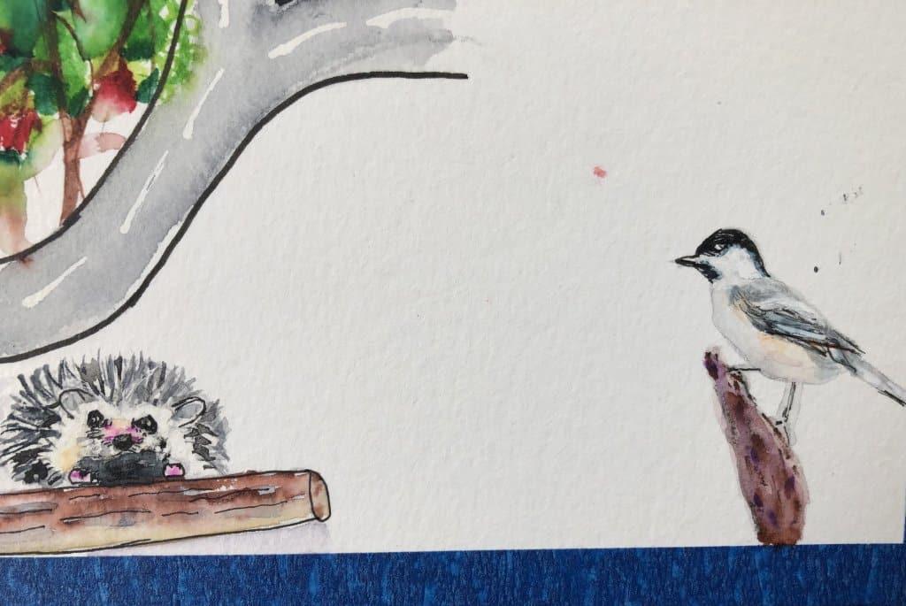 #doodlewashJune2021 Day 8 prompt: chickadee FCAF4F76-77E2-4762-B09E-5F8E2D105929
