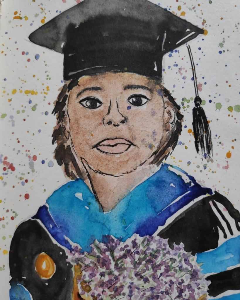 #day10 #graduation #doodlewashjune2021 #worldwatercolorgroup That's me (kind of)! IMG_20210610