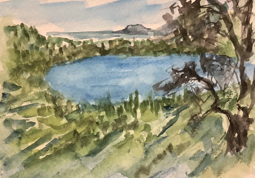 #doodlewashjune2021 day 18 Lake: Lago d'Averno is a volcanic crater lake in the Campania regio
