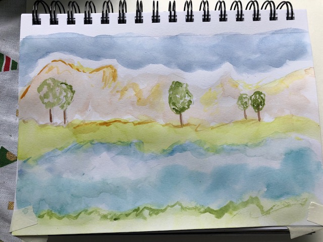 Days 15-18 #doodlewashjune2021 Still painting almost daily just not able to post thanks for looking!