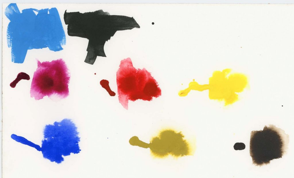 Aquafine Watercolour Ink Swatch Painted Examples