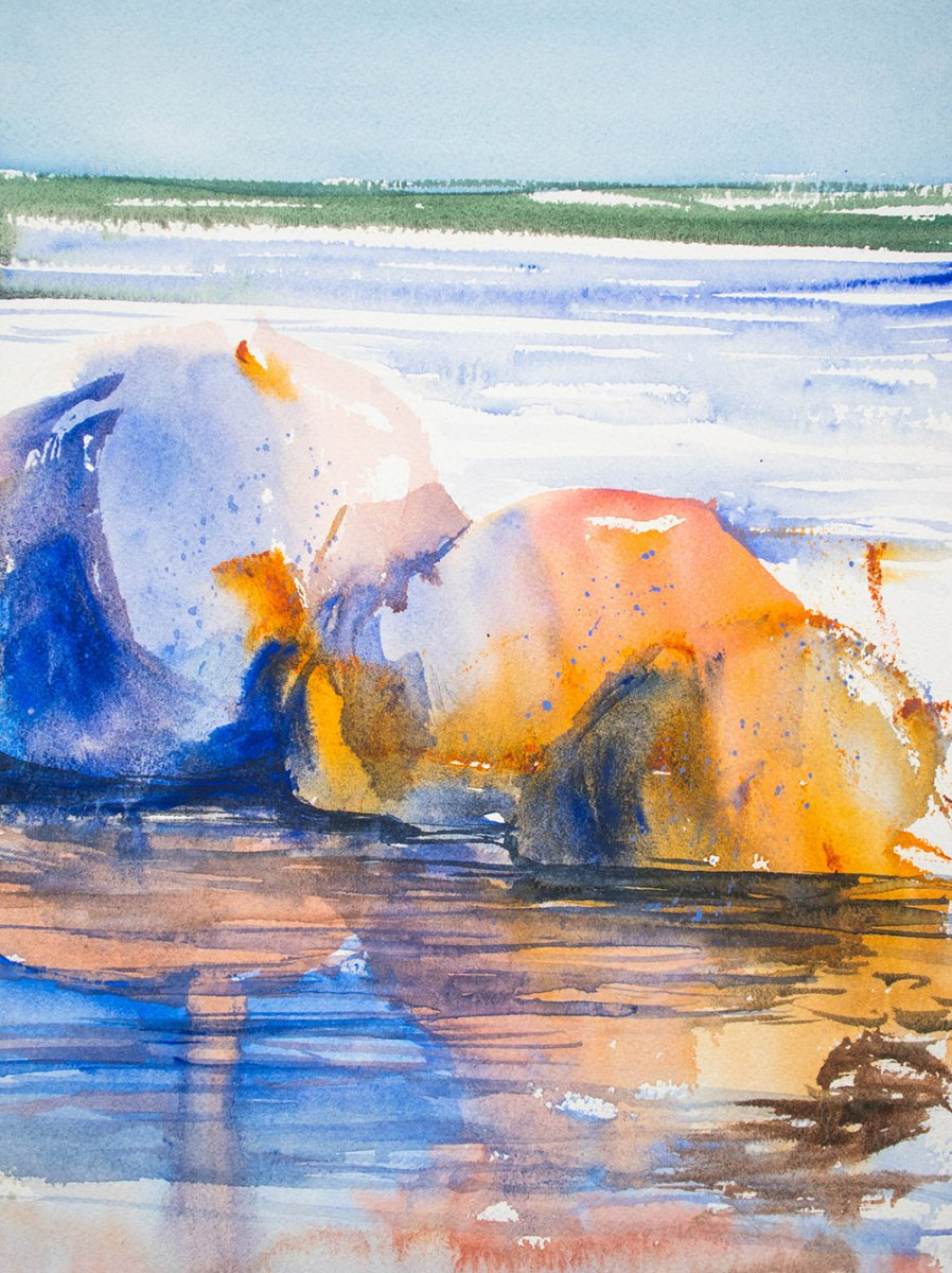 Reflections WWM Painting by Angela Fehr