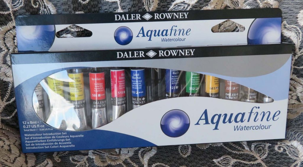 Aquafine Watercolour by Daler-Rowney 12 Tube Set Packaging