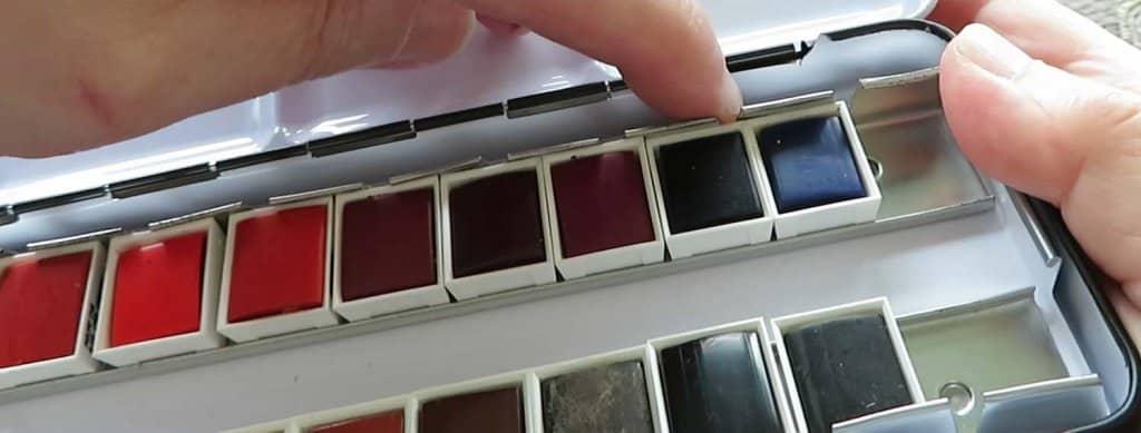 Aquafine Watercolour Pans Close up