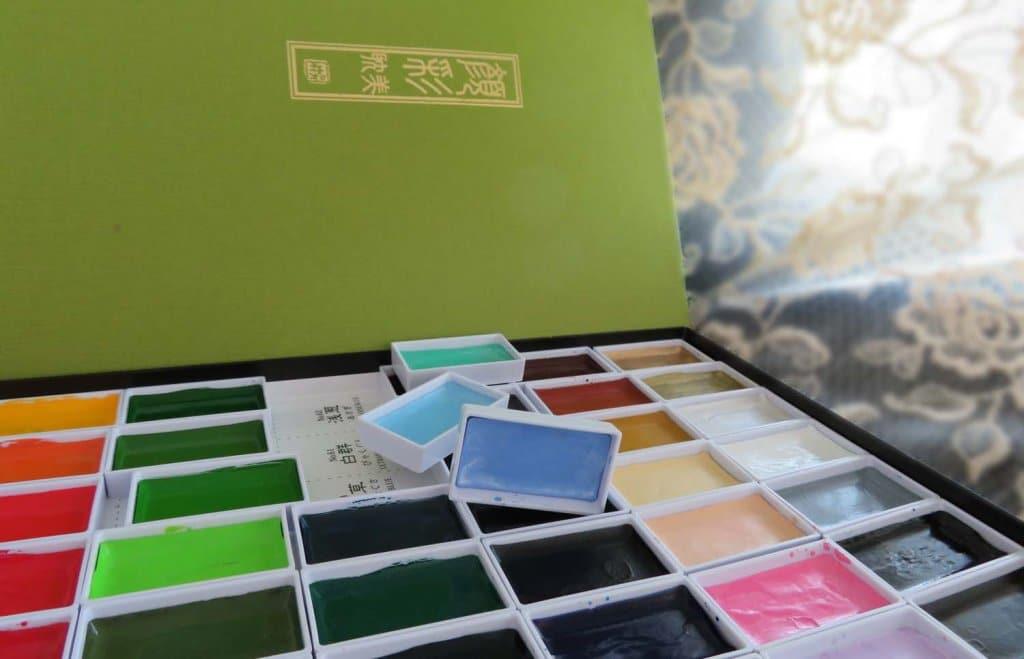 Gansai Watercolor Pans View