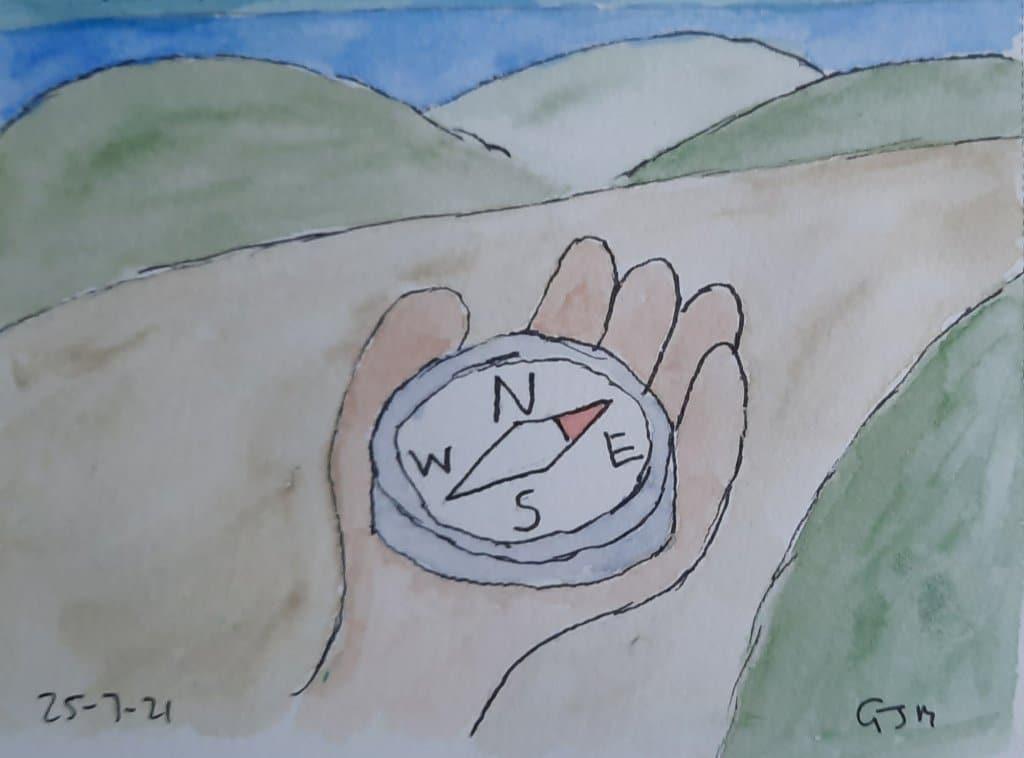 #doodlewashjuly2021 Day 25 Lost. #worldwatercolormonth #worldwatercolorgroup 20210725_103136