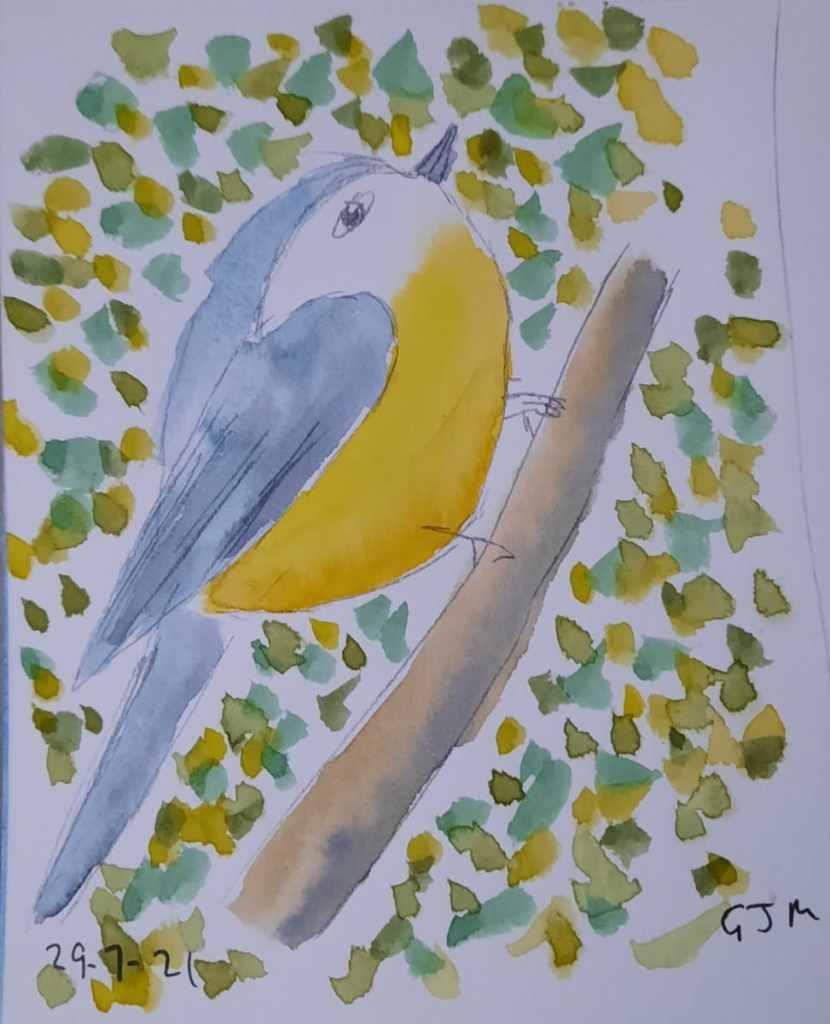 #doodlewashjuly2021 Day 30 Feathered. #worldwatercolormonth #worldwatercolorgroup 20210729_205718