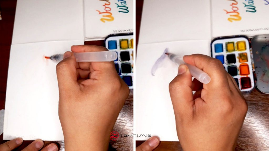 4 Starting the watercolor