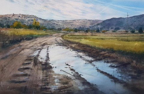 Horche Watercolor Painting by Pablo Ruben