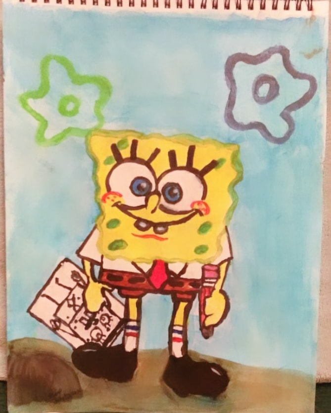 🎵🎶 Who lives in a pineapple under the sea 🍍🎶🎵…. I pain